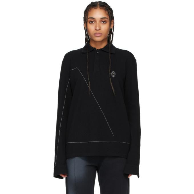 Photo: A-Cold-Wall* Black Rhombus Badge Long Sleeve Polo