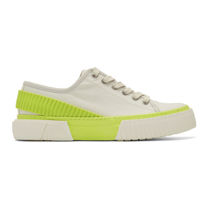 Photo: both Off-White and Yellow Pro-Tec Back Strap Sneakers