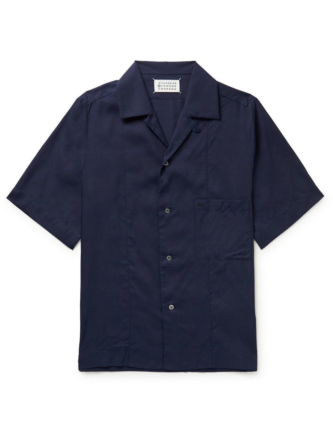Photo: Maison Margiela - Camp-Collar Woven Shirt - Blue