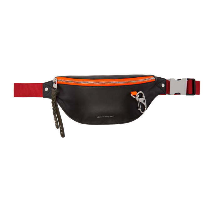 Photo: Alexander McQueen Black and Red Harness Belt Bag