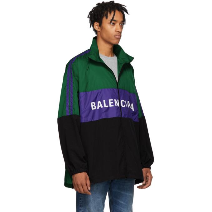 Balenciaga Green Logo Tracksuit Jacket