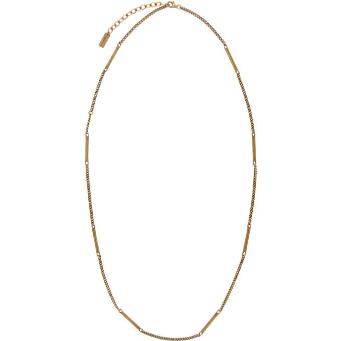 Photo: Saint Laurent Gold Fine1 Necklace