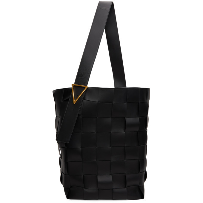 Photo: Bottega Veneta Black Intrecciato Maxi Tote