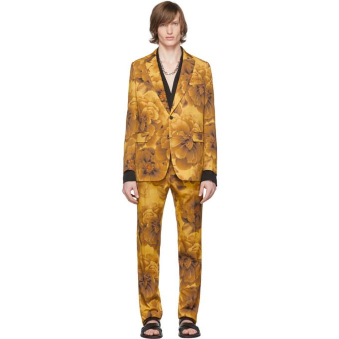 Photo: Dries Van Noten Yellow Wool Kline Floral Suit