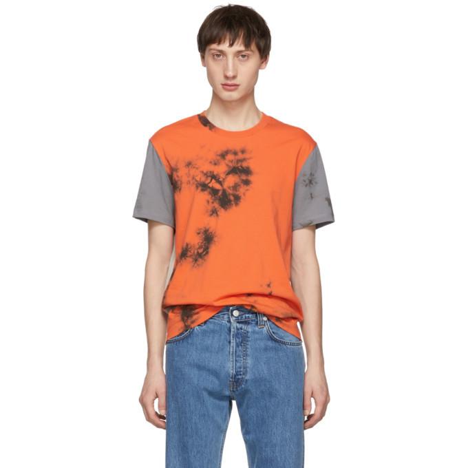 Photo: Helmut Lang Grey and Orange 3 Combo T-Shirt