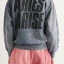 ARIES - Logo-Print Fleece-Back Cotton-Jersey Sweatshirt - Blue - M
