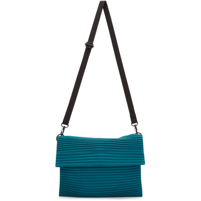 Photo: Homme Plisse Issey Miyake Blue Pleats Flat Bag