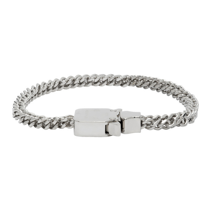 Photo: 1017 ALYX 9SM Silver Mini Cubix Chain Bracelet