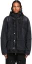 Sacai Black Layered Denim Jacket