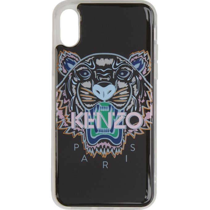 Kenzo Black and Pink Tiger iPhone X/XS Case