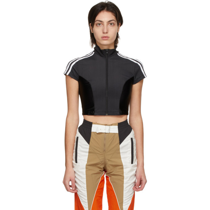 adidas Originals Black Paolina Russo Edition Crop Top