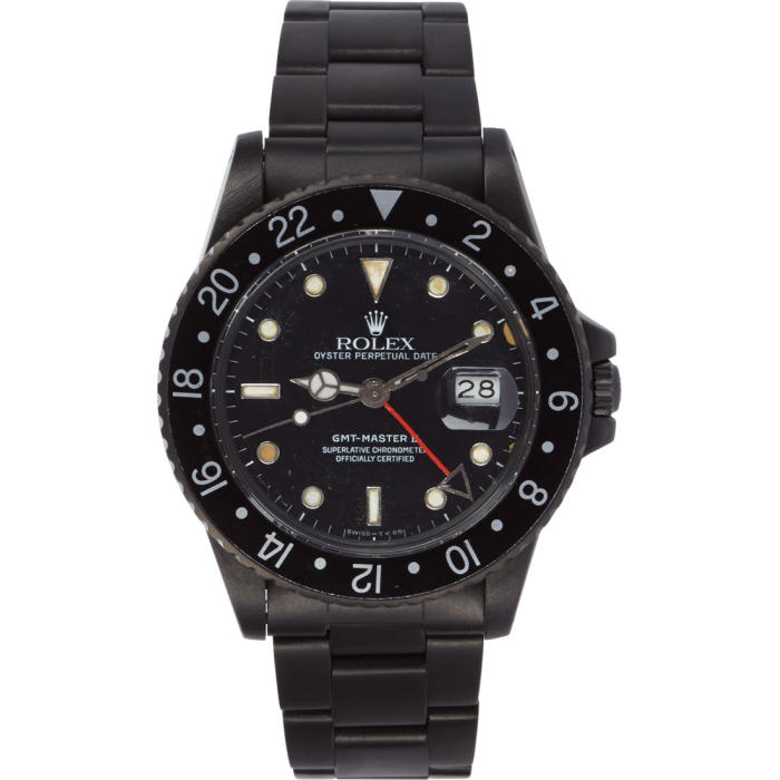 Photo: Black Limited Edition Matte Black Limited Edition Rolex GMT Master II Watch