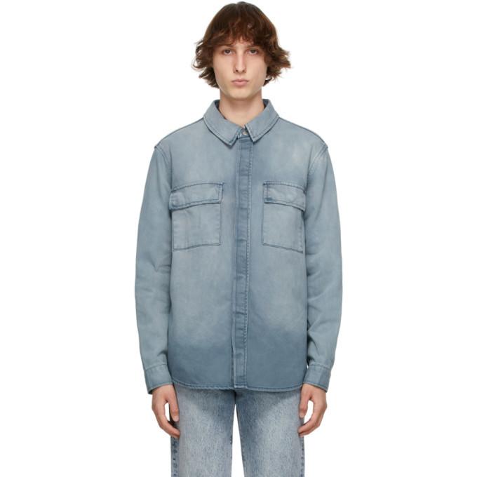 Photo: Ksubi Blue Denim Anti Shirt