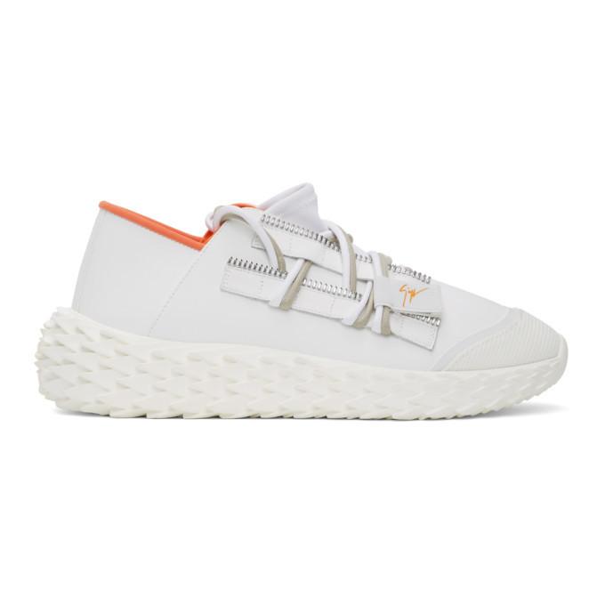 Photo: Giuseppe Zanotti White Leather Urchin Sneakers