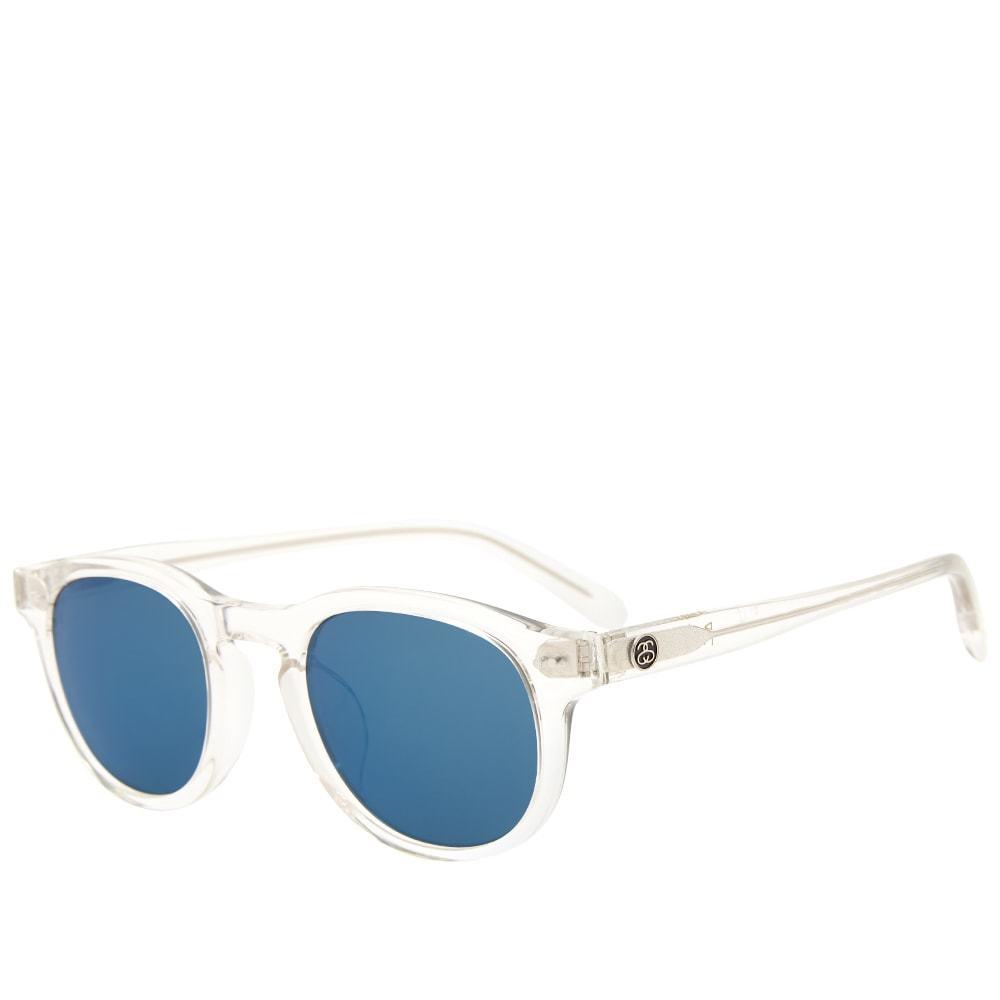 Photo: Stussy Romeo Sunglasses Translucent & Blue Mirror