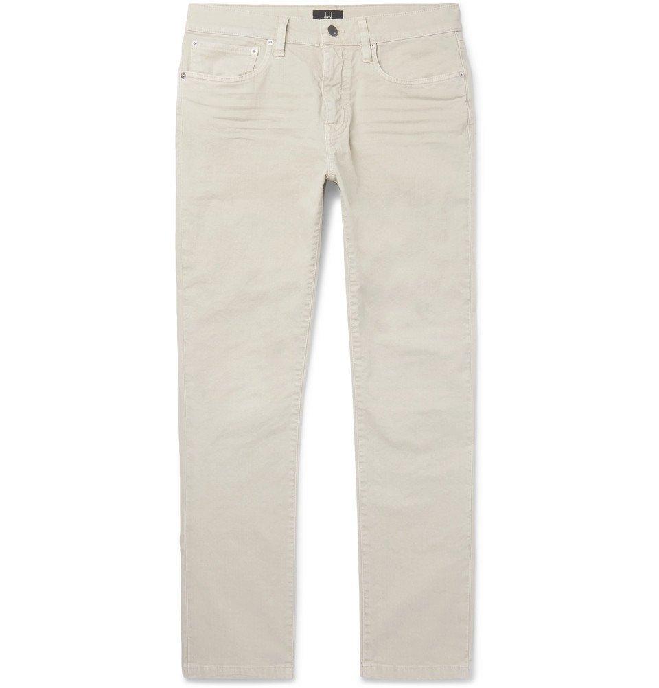 Dunhill - Slim-Fit Stretch-Denim Jeans - Men - Stone