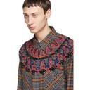 Sacai Grey Plaid Embroidery Shirt