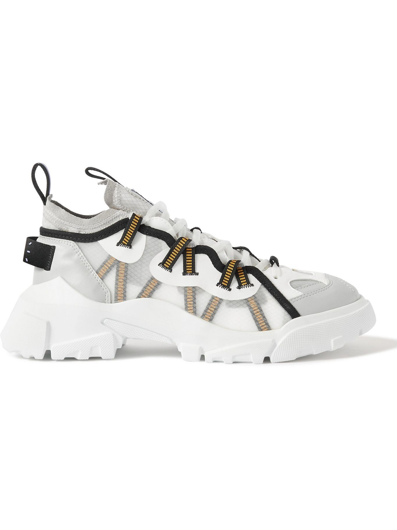 MCQ - Breathe BR-7 Orbyt Descender Leather-Trimmed Ripstop Sneakers - White