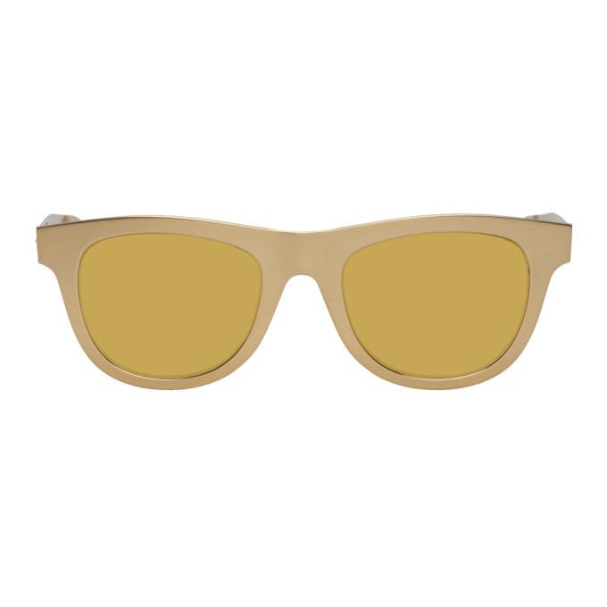 Photo: Bottega Veneta Gold Aluminum Sunglasses