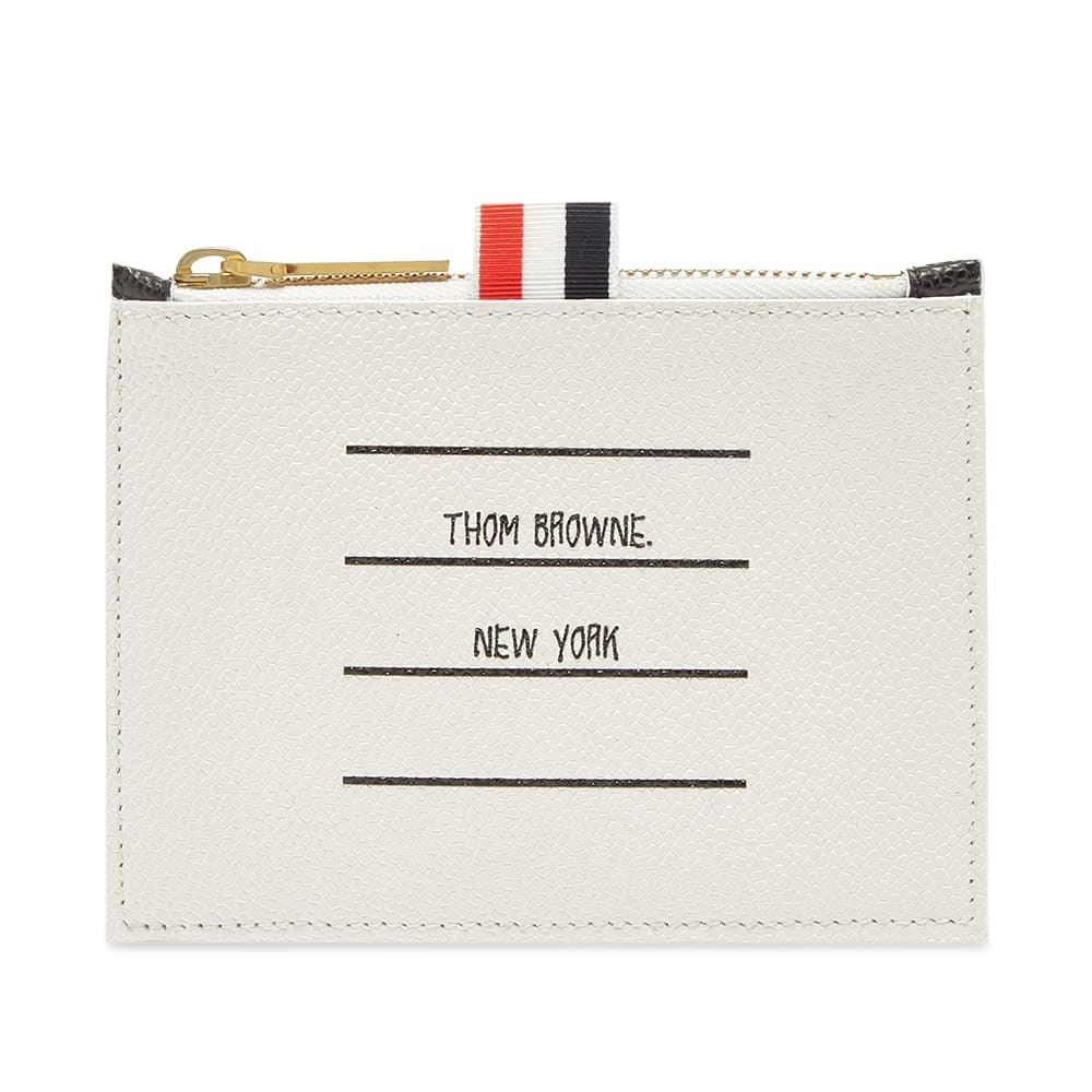 Photo: Thom Browne Printed Label Zip Wallet