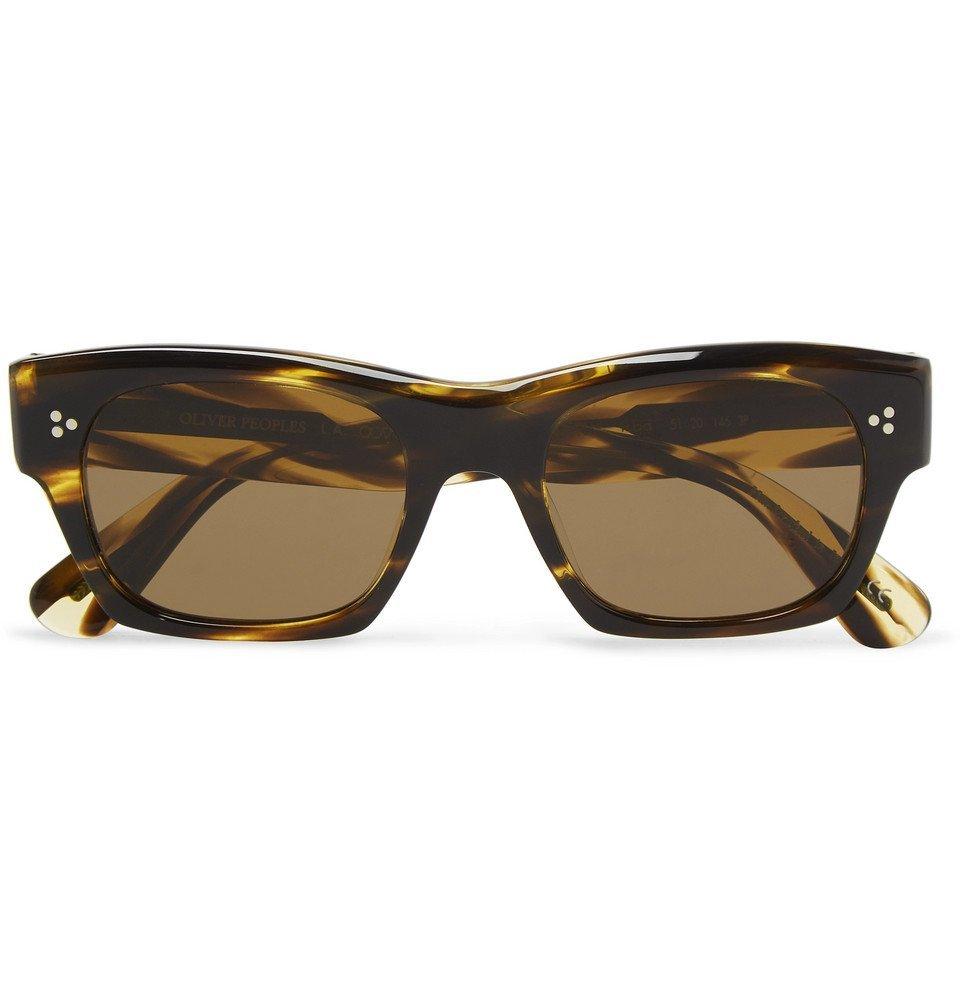Oliver Peoples - Isba Round-Frame Tortoiseshell Acetate Sunglasses - Men - Tortoiseshell