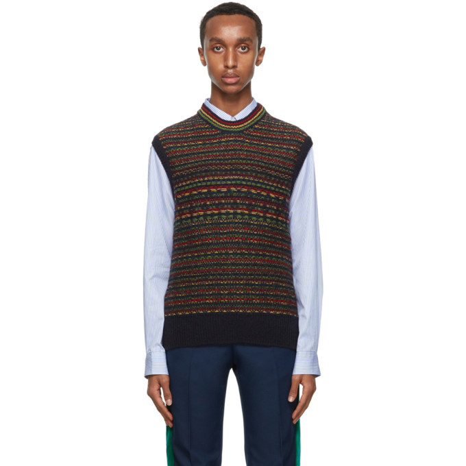 Photo: Wales Bonner Multicolor Fair Isle Vest