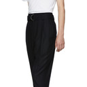3.1 Phillip Lim Black Relaxed Pleated Belted Trousers