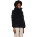 Stella McCartney Navy Alpaca Fuzzy Sweater