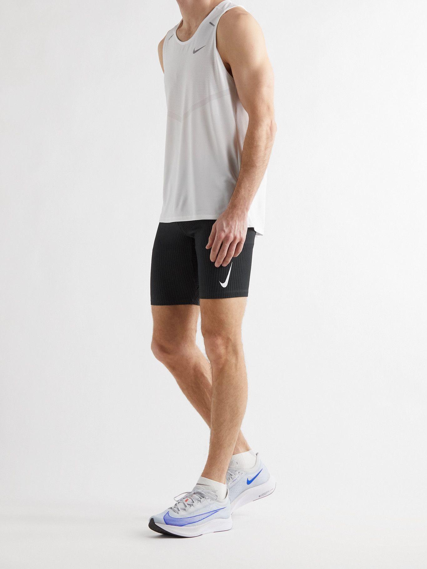 NIKE RUNNING - AeroSwift Ribbed Shorts - Black