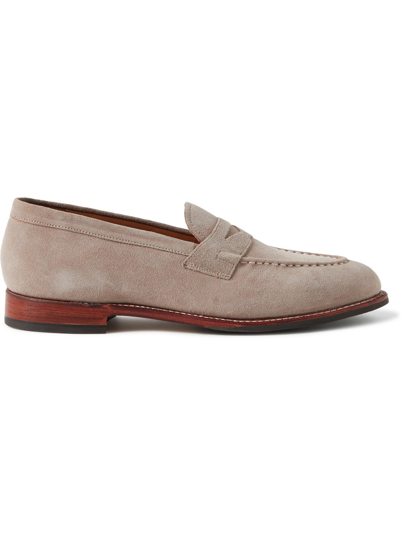 Photo: GRENSON - Lloyd Suede Penny Loafers - Brown
