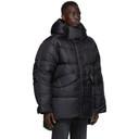 Acne Studios Black Down Nylon Coat