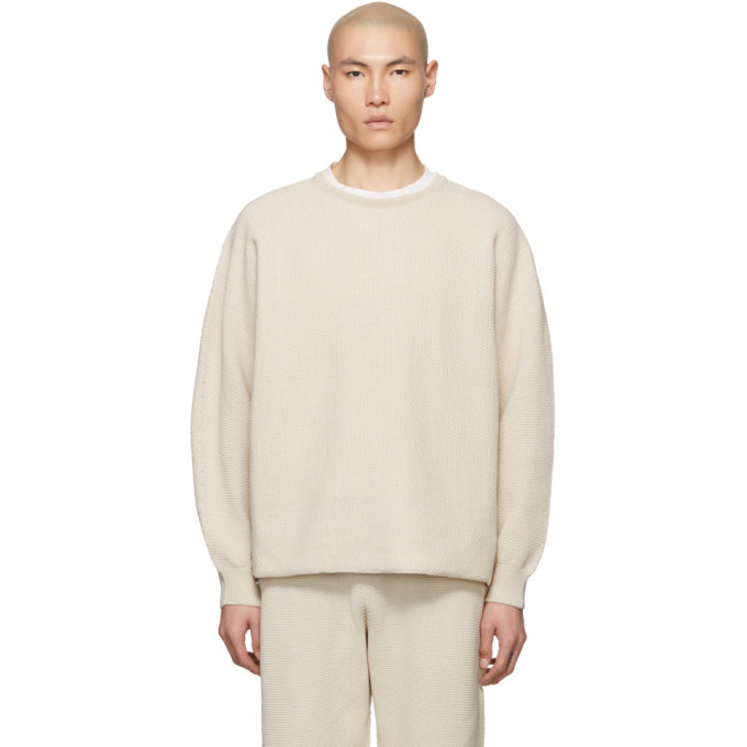 Photo: Homme Plisse Issey Miyake Off-White Rustic Knit Sweater
