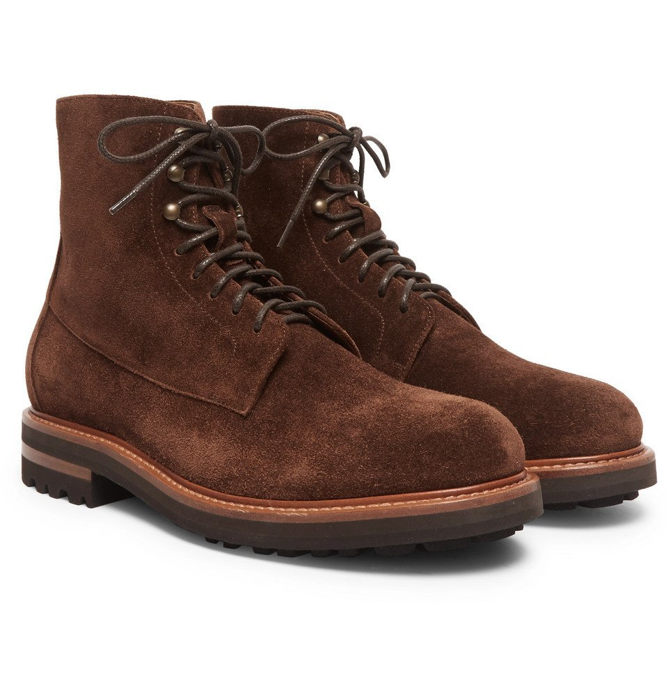 Photo: Brunello Cucinelli - Suede Boots - Dark brown