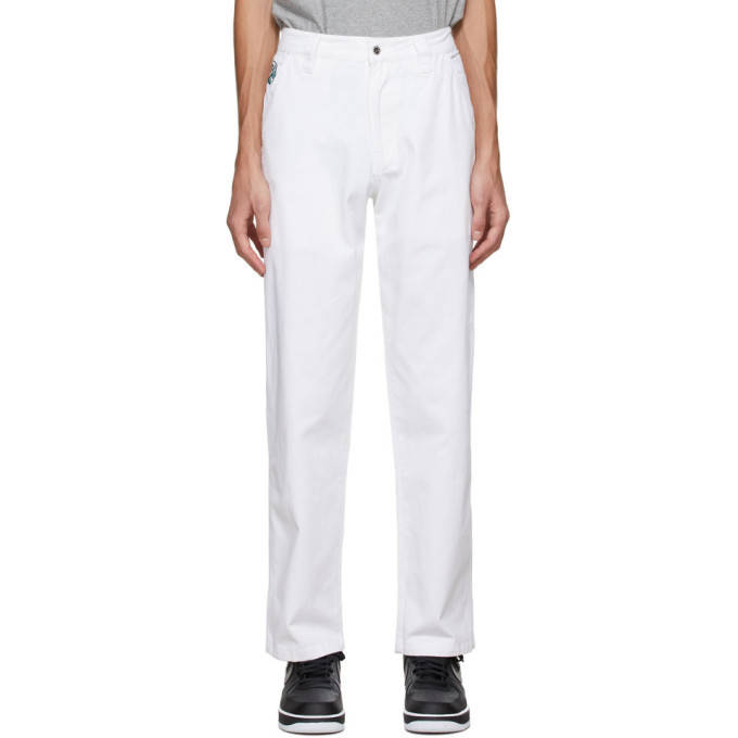 Photo: Billionaire Boys Club White Painter Pants