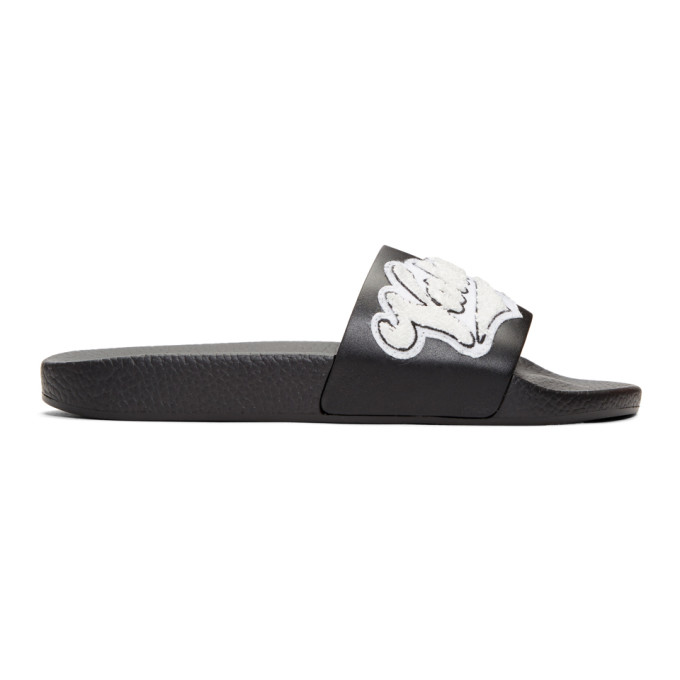 Photo: Valentino Black and White Valentino Garavani Rookie Varsity Slides