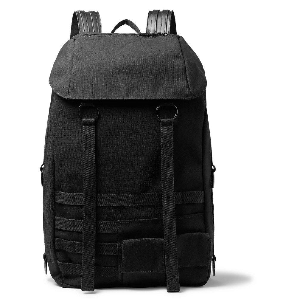 Raf Simons - Eastpak Webbing and Leather-Trimmed Embellished Canvas Backpack - Black