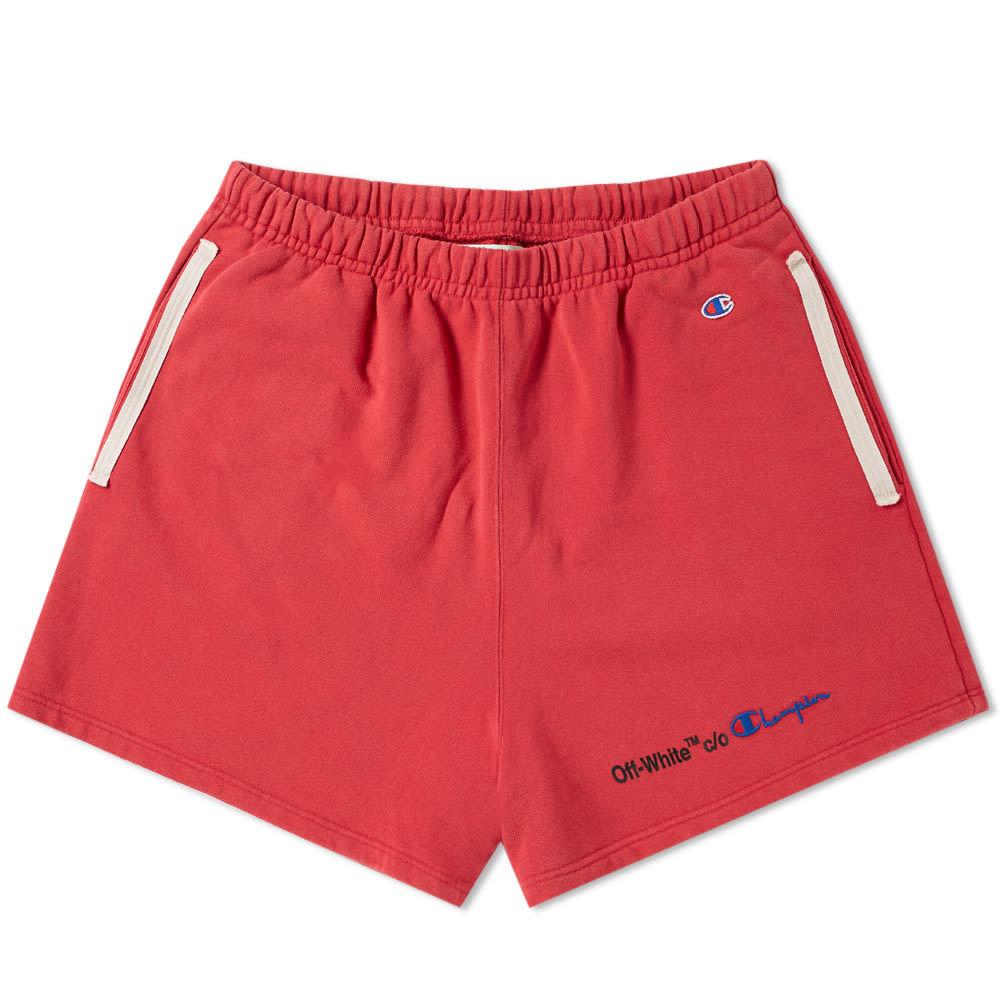 Photo: Off-White x Champion Short Red