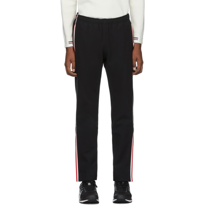 Photo: Moncler Grenoble Black Side Stripe Performance Ski Lounge Pants