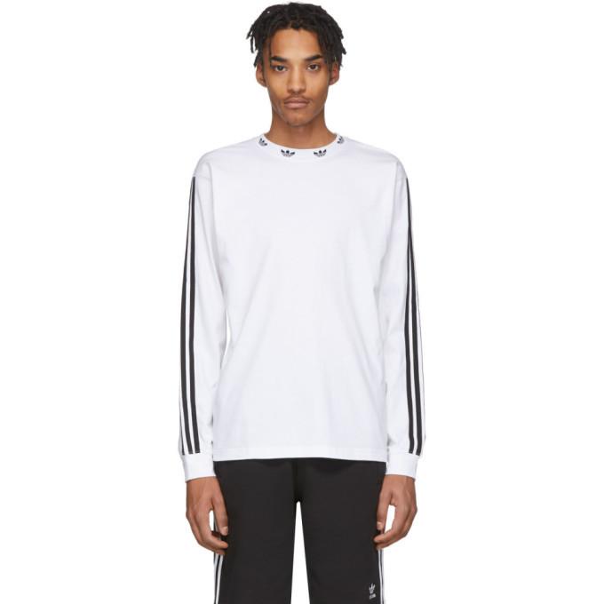 Photo: adidas Originals White Trefoil Long Sleeve T-Shirt