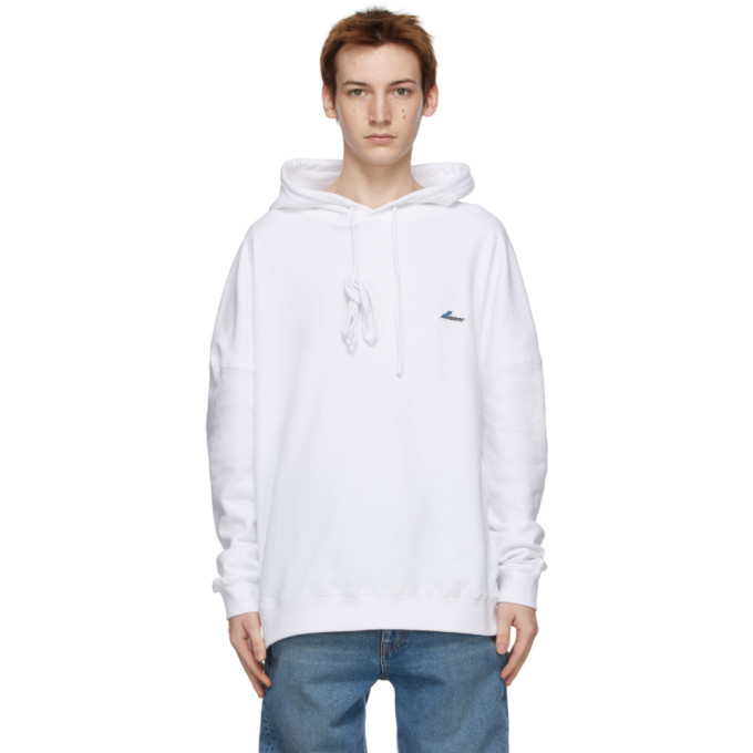 Photo: We11done White Logo Patch Hoodie
