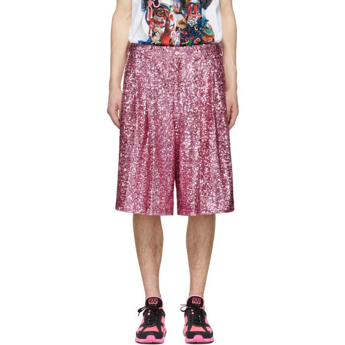 Photo: Comme des Garçons Homme Plus Pink Sequin Shorts