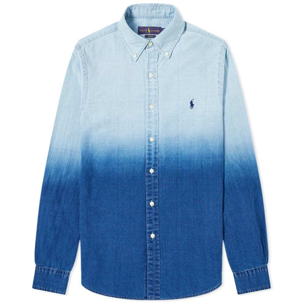 Photo: Polo Ralph Lauren Dip Dye Poplin Button Down Shirt