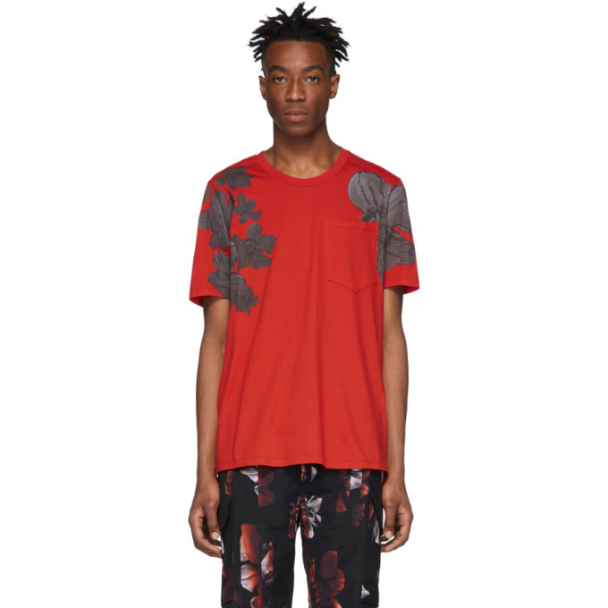 Photo: Neil Barrett Red Shadow Anemone Loose Neck T-Shirt