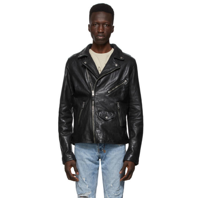 Photo: Ksubi Black Leather Capitol Jacket
