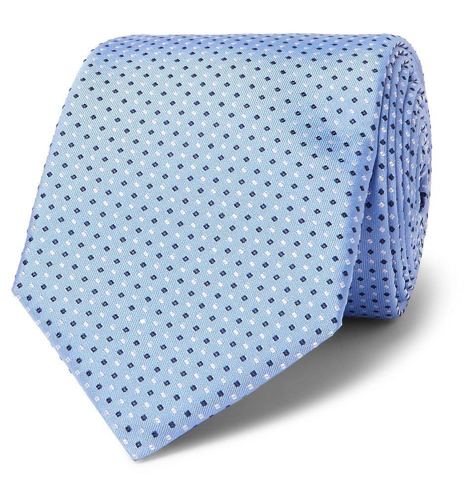Photo: Hugo Boss - 7.5cm Silk-Jacquard Tie - Blue