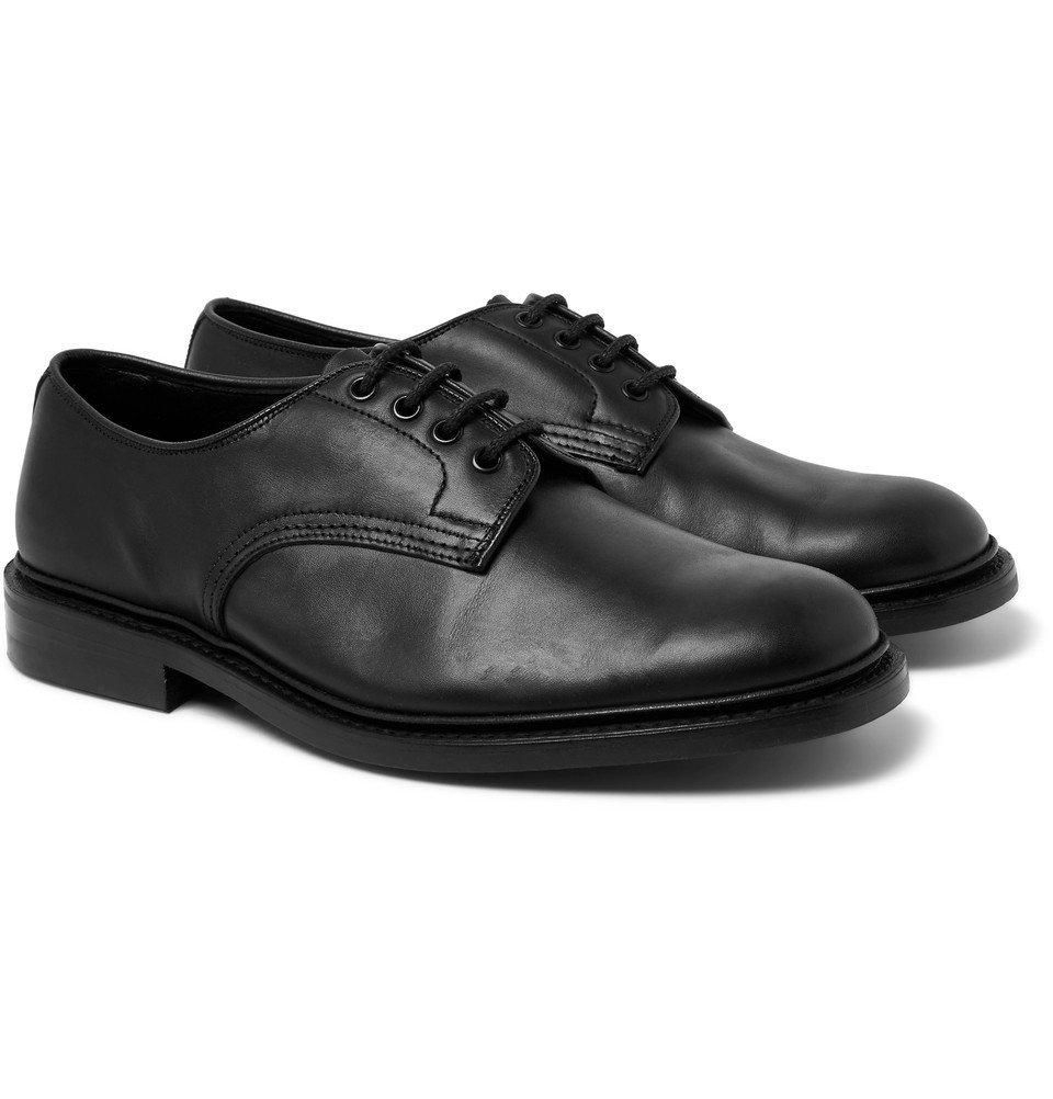 Photo: Tricker's - Daniel Leather Derby Shoes - Black