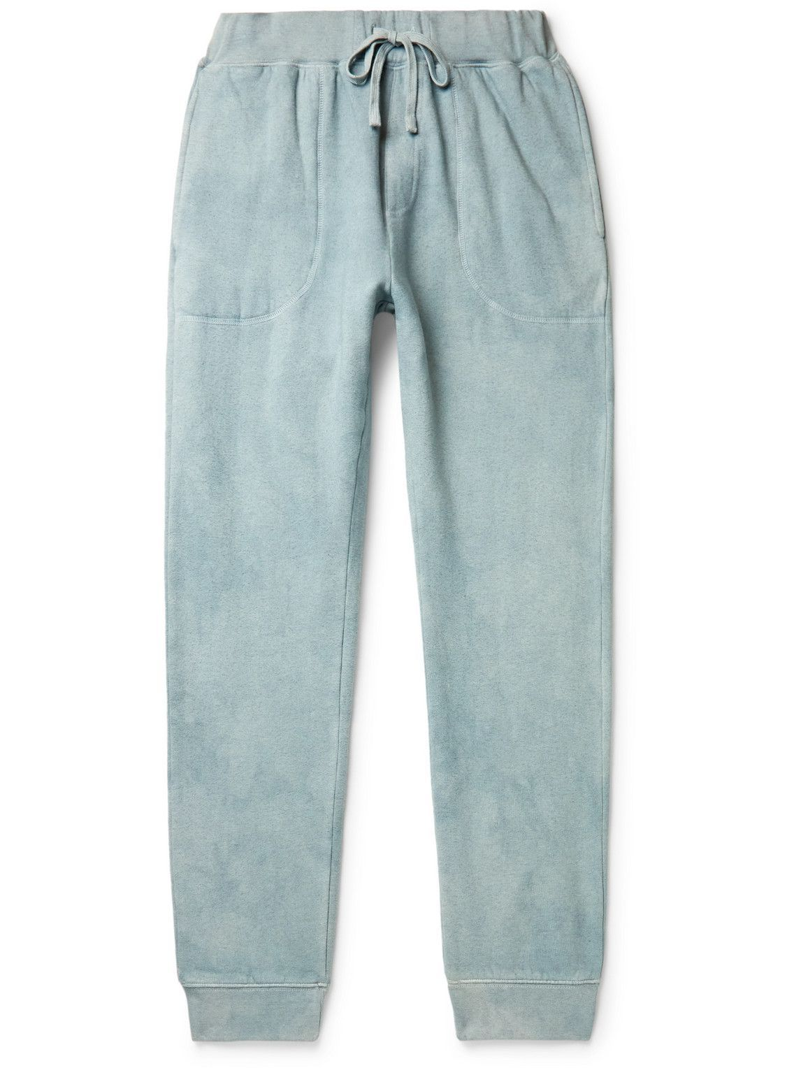 Photo: Altea - Tapered Cotton-Blend Jersey Sweatpants - Green