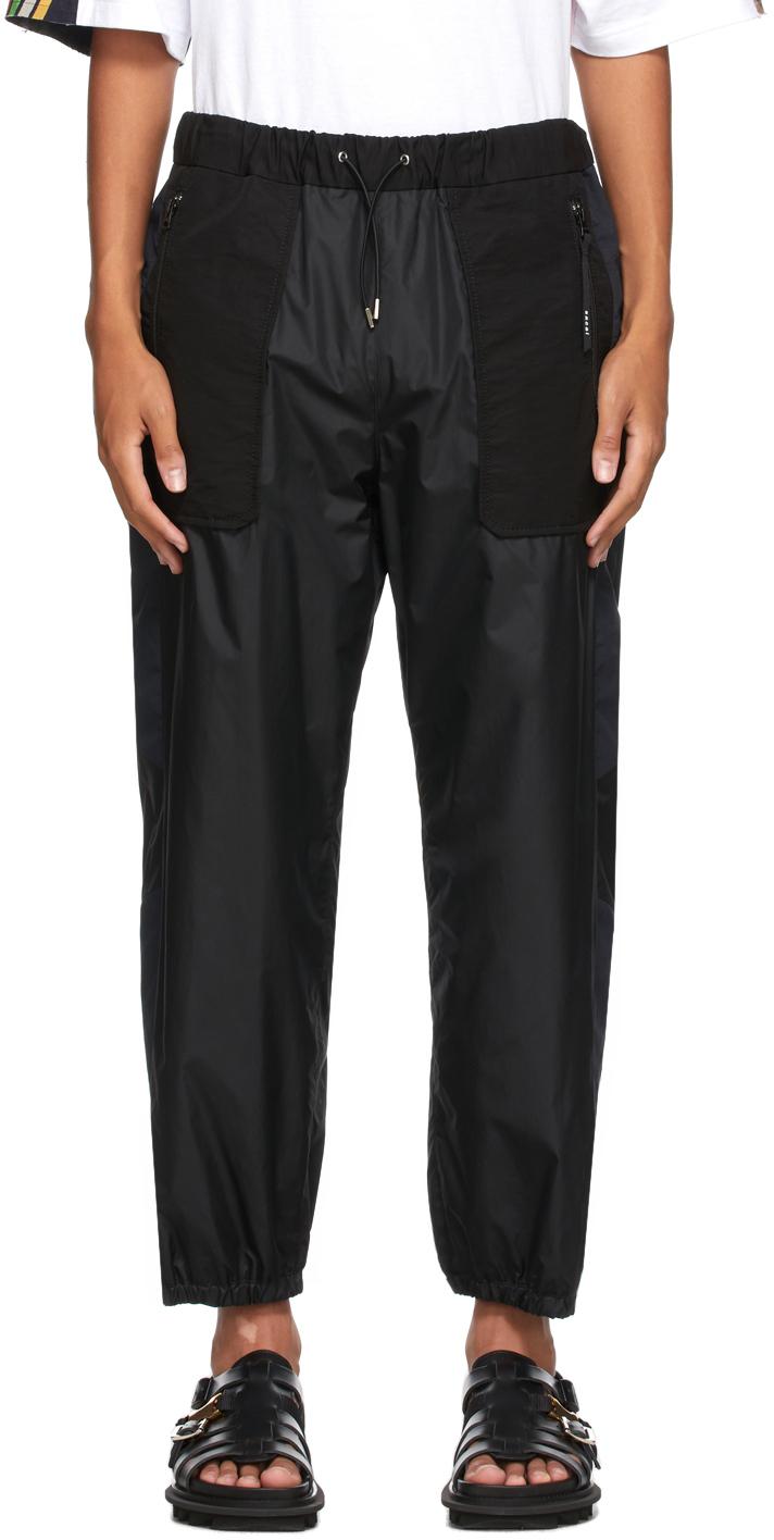 Sacai Black Nylon Lounge Pants