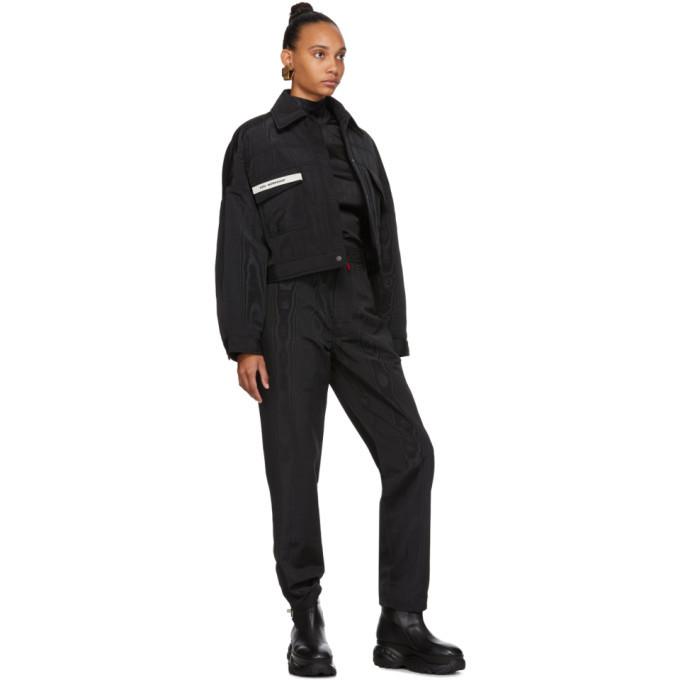 032c Black Moire Trousers