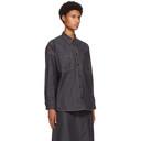 3.1 Phillip Lim Navy Organic Denim Shirt Jacket